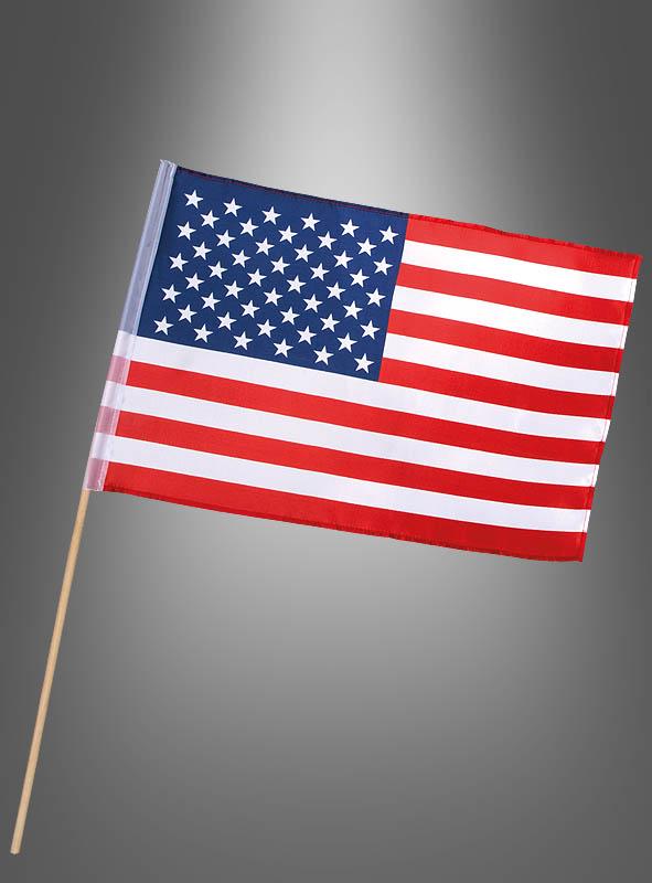 USA Fähnchen Flagge für Amerika Partys bei Kostümpalast