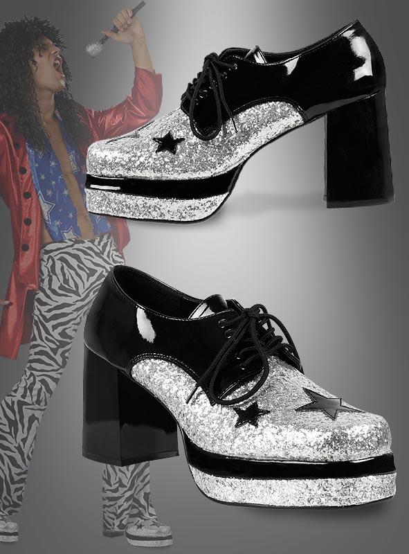 Rockstar Schuhe für Männer im Glamrock Style zum Kostüm
