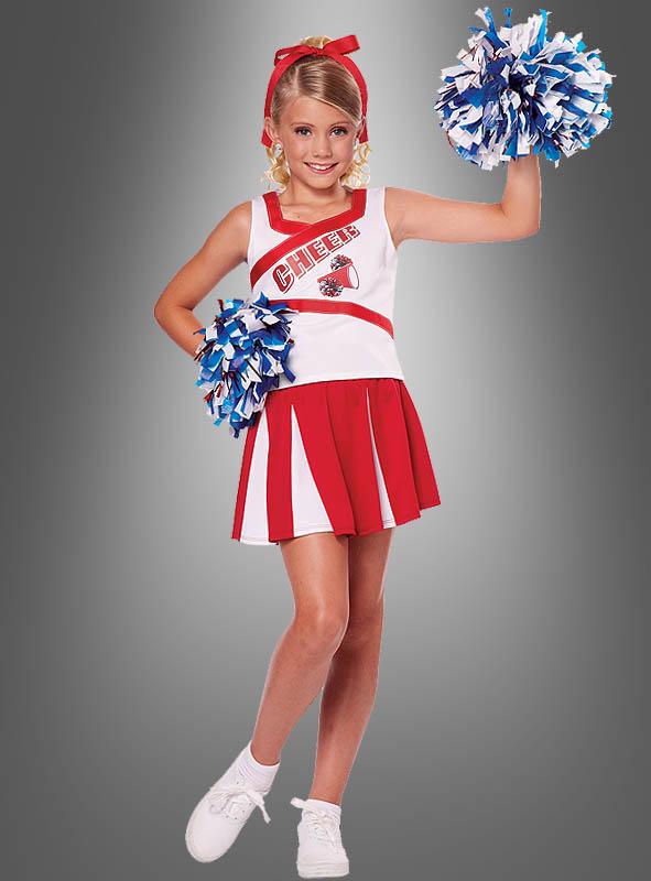 Cheerleader Kostum Mit Pompoms Bei Kostuempalast De