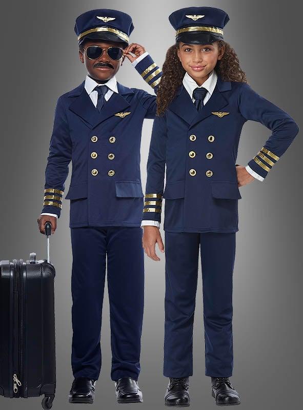 Flugzeugkapitän Kostüm für Kinder