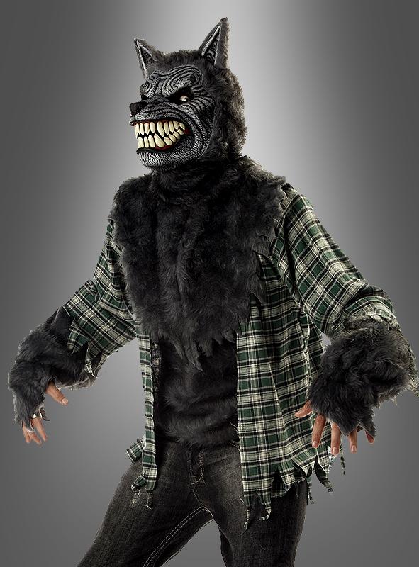 Boser Wolf Kostum Fur Erwachsene Mit Werwolf Maske