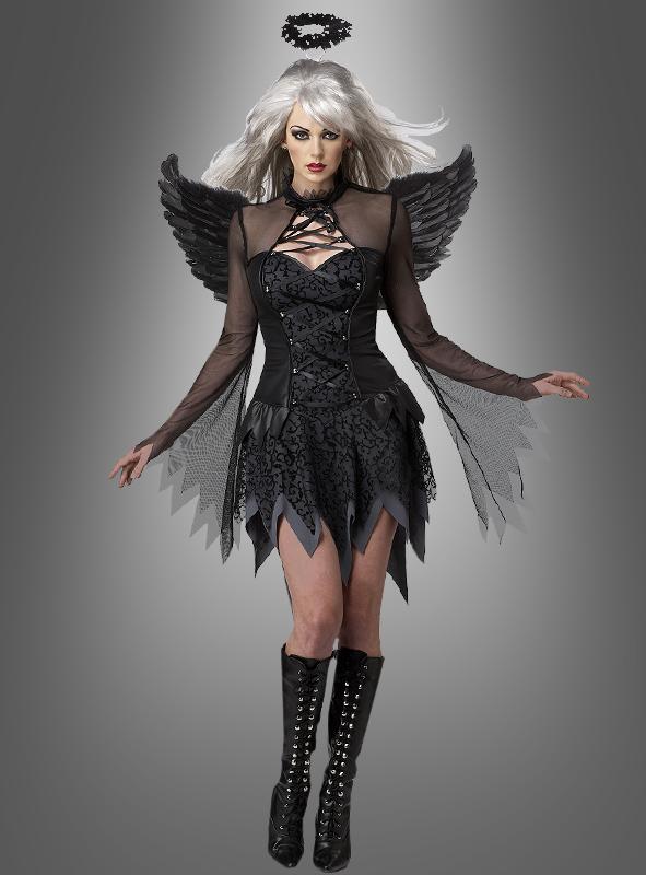 Halloween Schminktipps Schwarzer Engel.Gefallener Schwarzer Engel Bei Kostumpalast