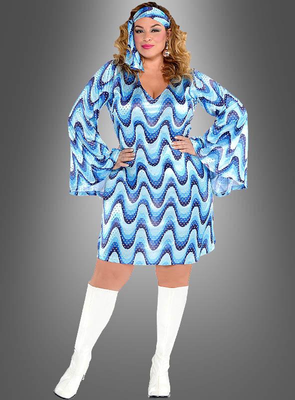 Plus Size Disco Lady Dress Bluebird Kostmpalast
