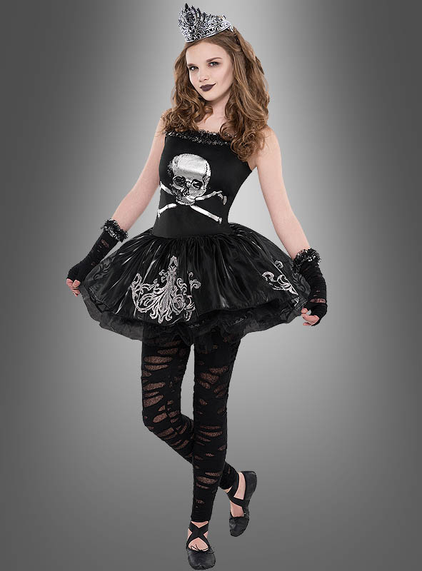 totenkopf kleid teen ballerina bei kost mpalast. Black Bedroom Furniture Sets. Home Design Ideas