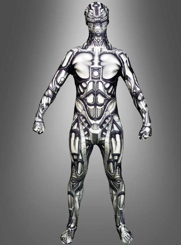 android roboter morphsuit ganzk rperanzug zentai kost m. Black Bedroom Furniture Sets. Home Design Ideas