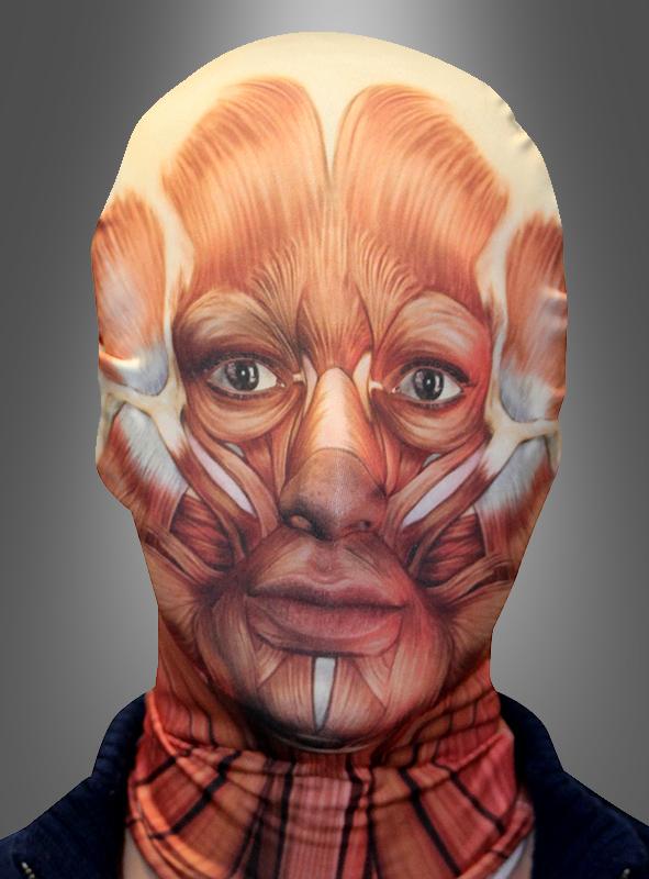 Muscle Monster Morphsuit Gesichtsmaske Karnevalskostüm