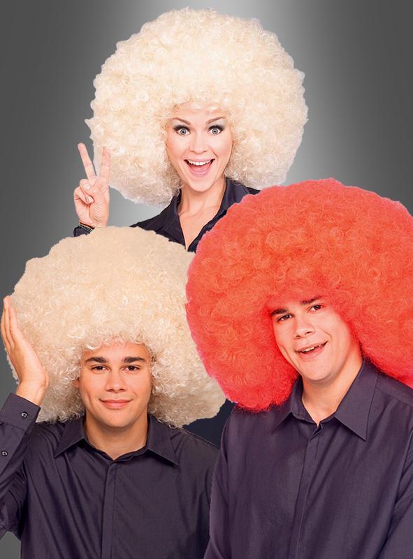 Super Afro Perücke rot oder blond