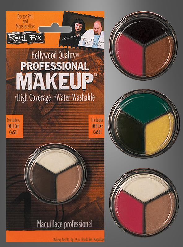 Professionelles Make-up Tricolor versch. Farben
