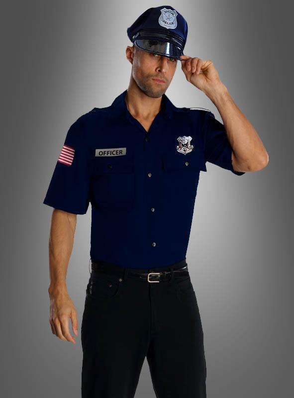 US Polizist Officer Herrenkostüm