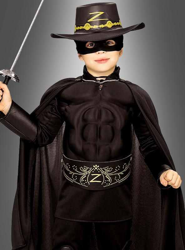 Child Muscle Chest Zorro Costume