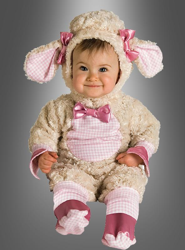 Lamm ROSA Strampler Babykostüm Strampelanzug