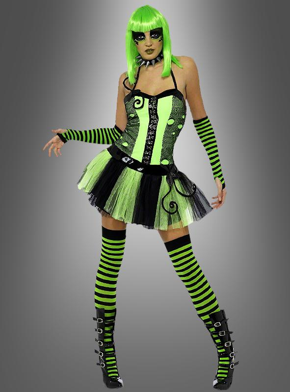 80er Jahre Neon Kleid