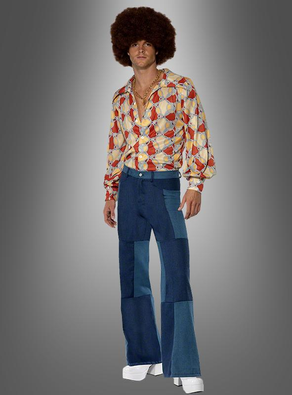 Retro Shirt and patch Trousers costume