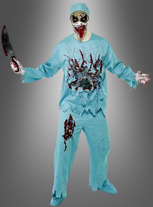 Zombie Arztkostüm mit Maske