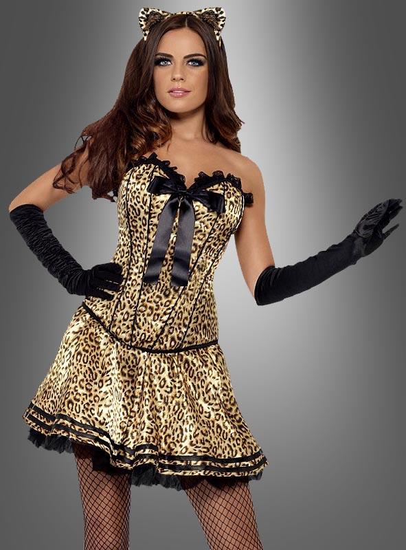 Sexy Leopardenkostüm mit Zubehör