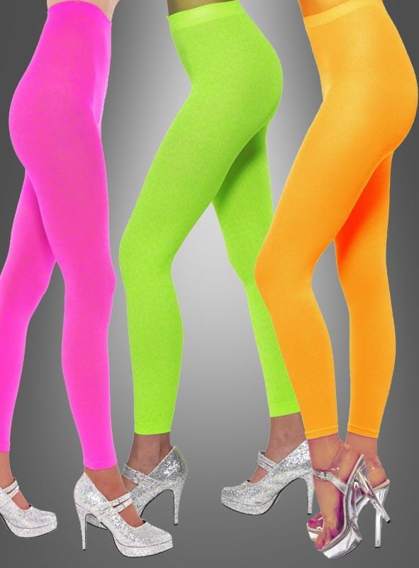 Neon Leggings 80er Nylon-Qualität