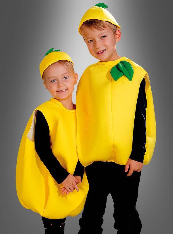 Zitrone Früchtekostüm für Kinder