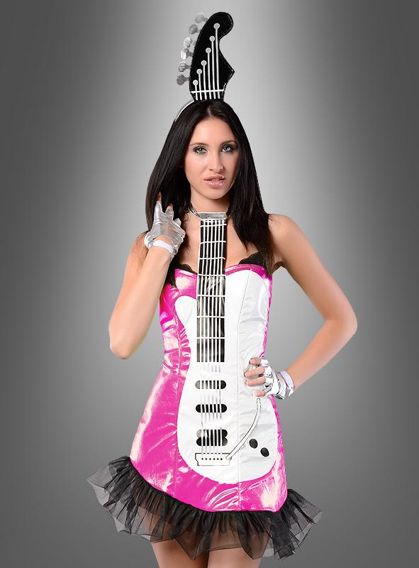 Sexy Popstar Guitar Girl Costume pink
