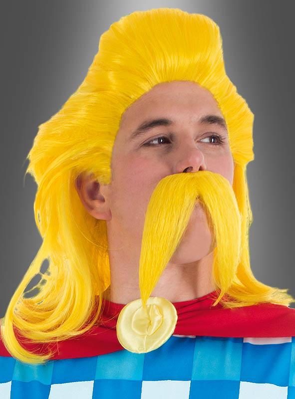 Troubadix Perücke und Bart Lizenzprodukt Asterix