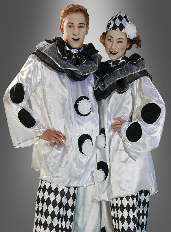 Pierrot Clown Harlekin Kostüm