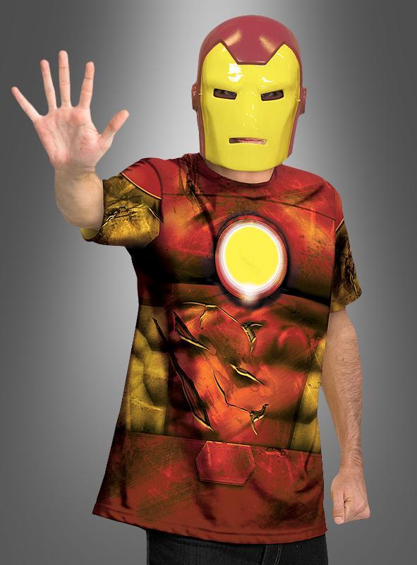 Iron Man Shirt und Maske
