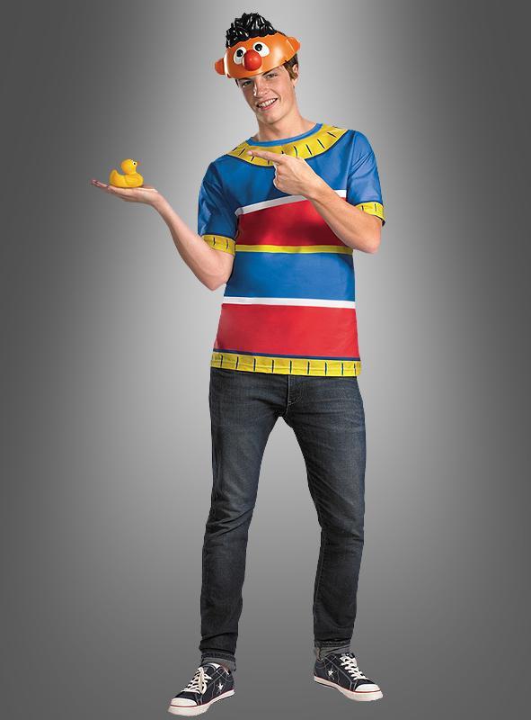 Ernie Kostüm Shirt und Maske