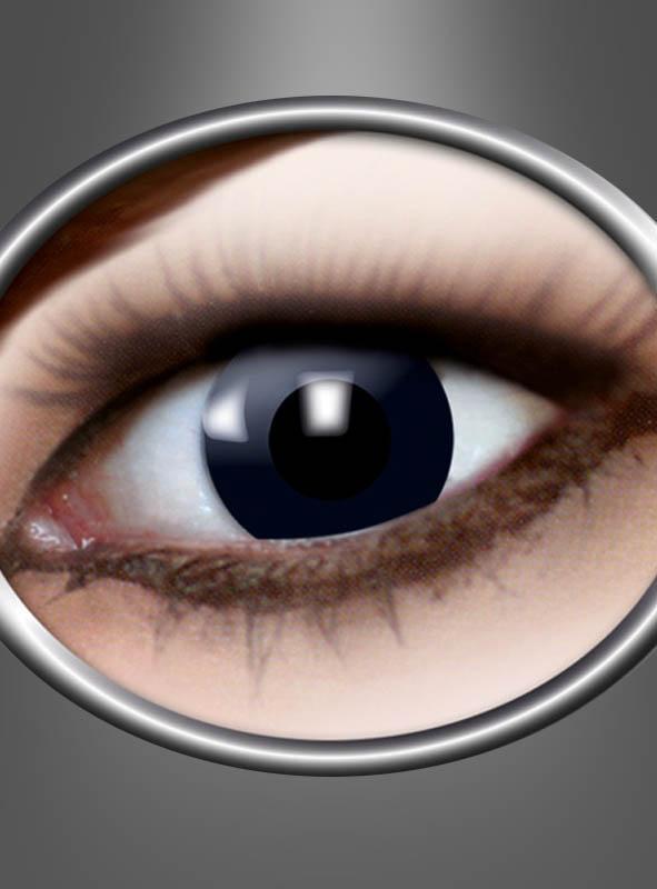 Schwarze Kontaktlinsen mit Stärke