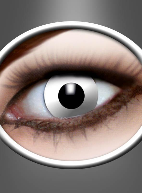 Weiße Kontaktlinsen mit Stärke Zombie