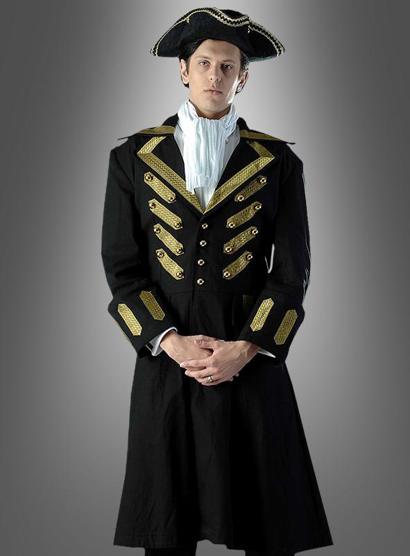 Black Gothic Coat Pirate