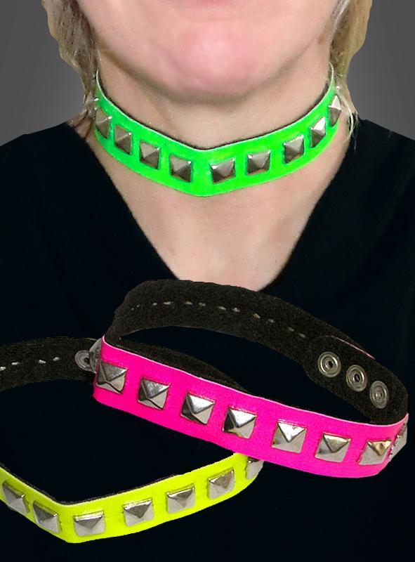 Neon Nietenhalsband
