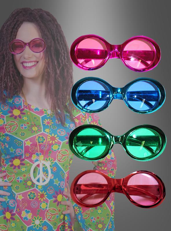 Brille Hippie metallic Look