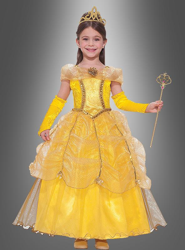 Deluxe Goldene Prinzessin Kinderkostüm