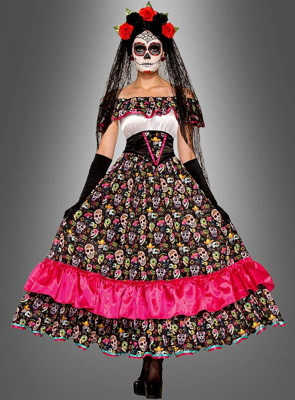 dia de los muertos kost m totenkleid. Black Bedroom Furniture Sets. Home Design Ideas