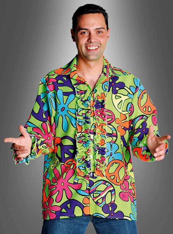 Shirt Herren Neon Peace grün