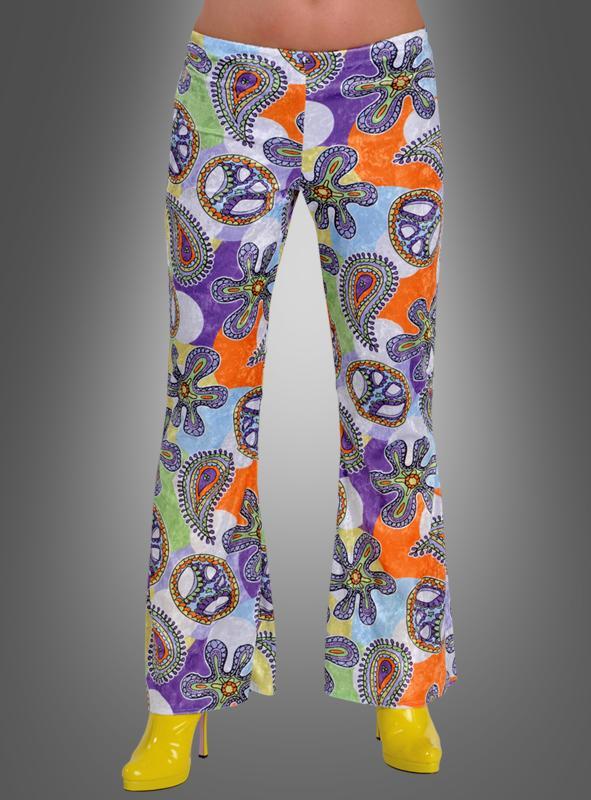 Hippie Damen Schlaghose Cool Purple