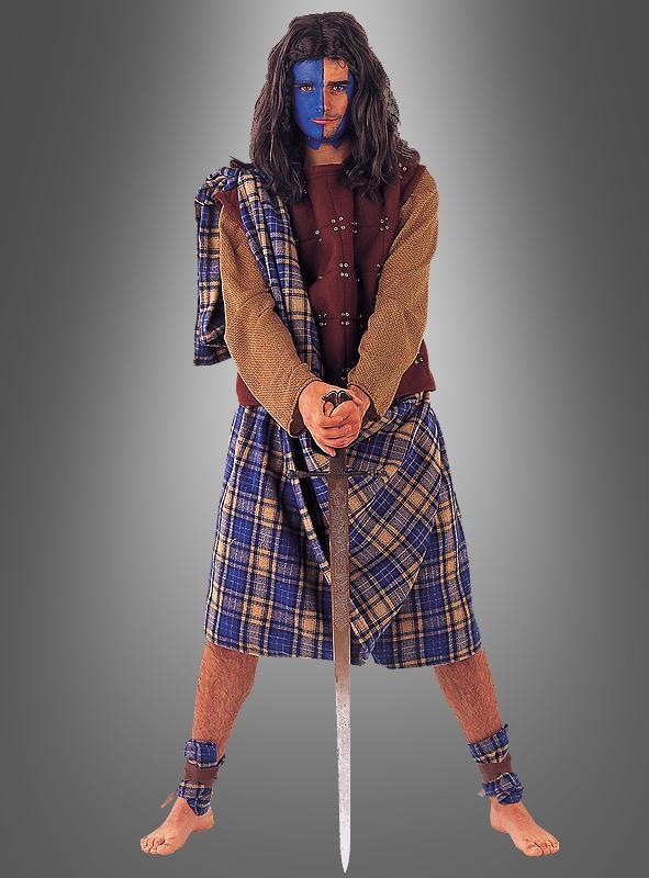 Deluxe Highlander Schotte Herrenkostüm