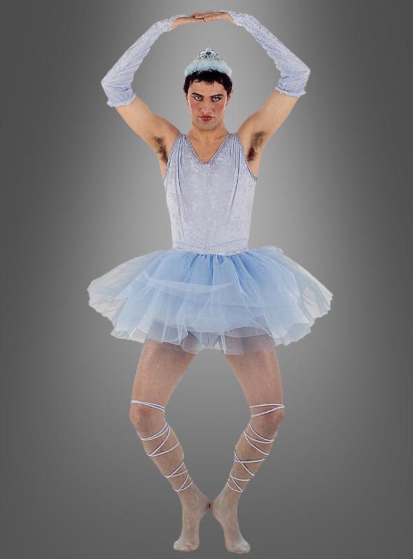 Blue ballerina man costume