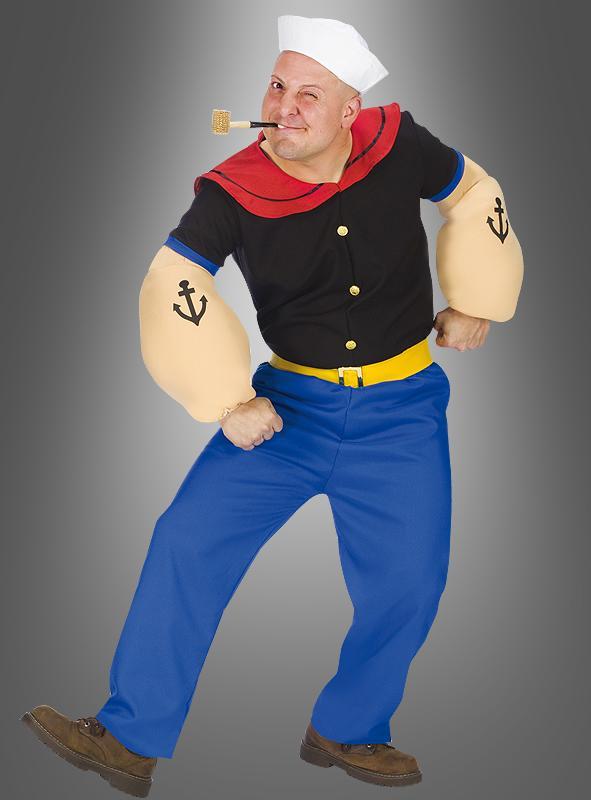 Popeye Lizenz-Kostüm Seemann