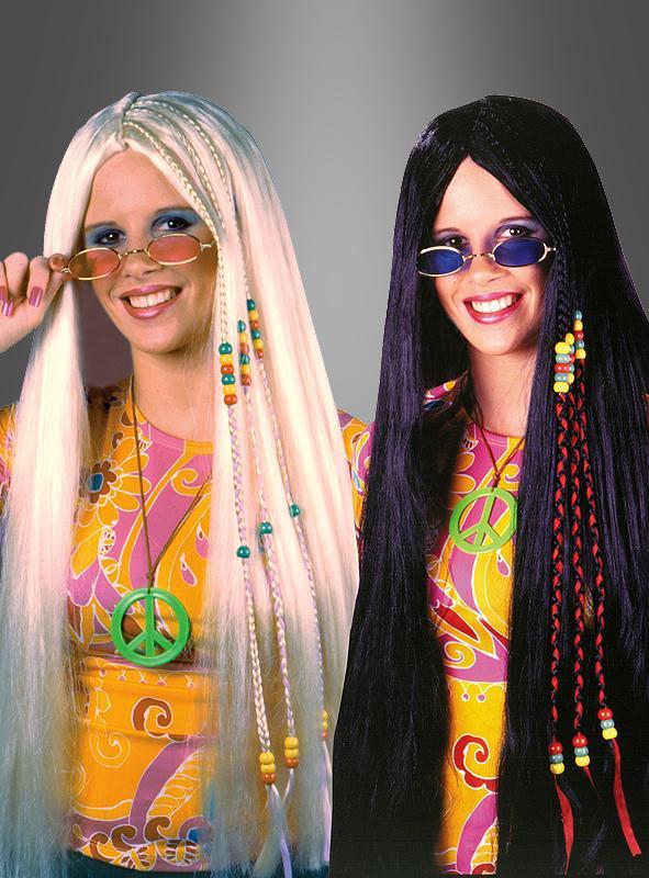 Braided Hippie Wig black or blond