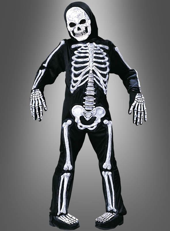 Skelett Kinderkostüm