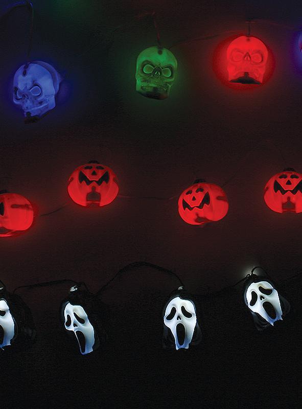 Halloween Lichterkette in 3 Varianten mit Sound