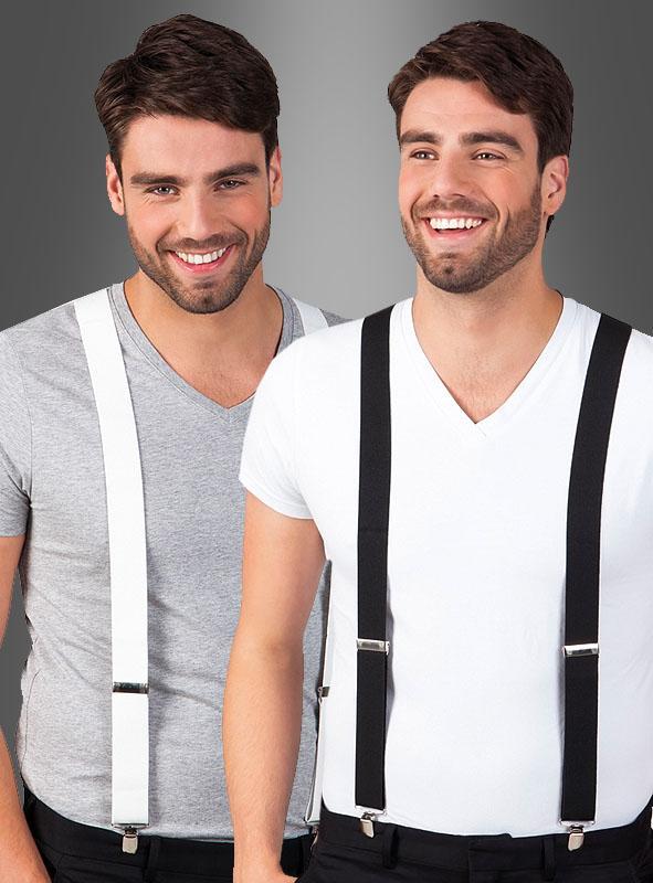 Suspenders black or white