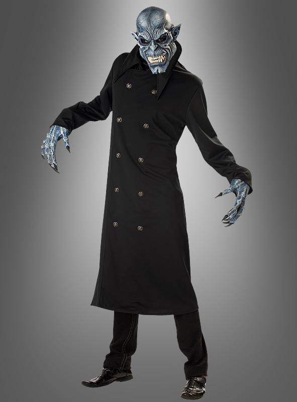 Vampir Unhold Kostüm mit Maske