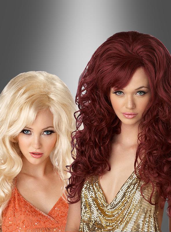 Sexbombe Brigitte Langhaarperücke blond oder rot