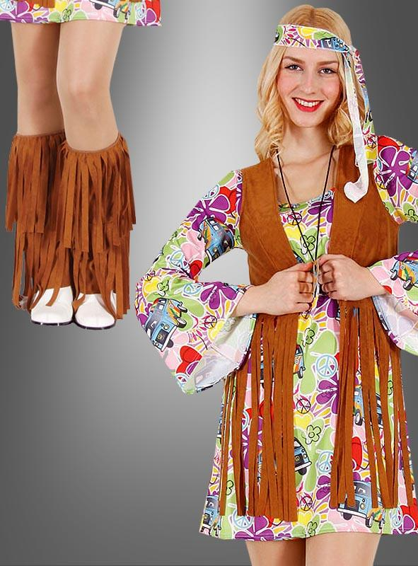 Hippie Fringes Vest and Leg Warmers