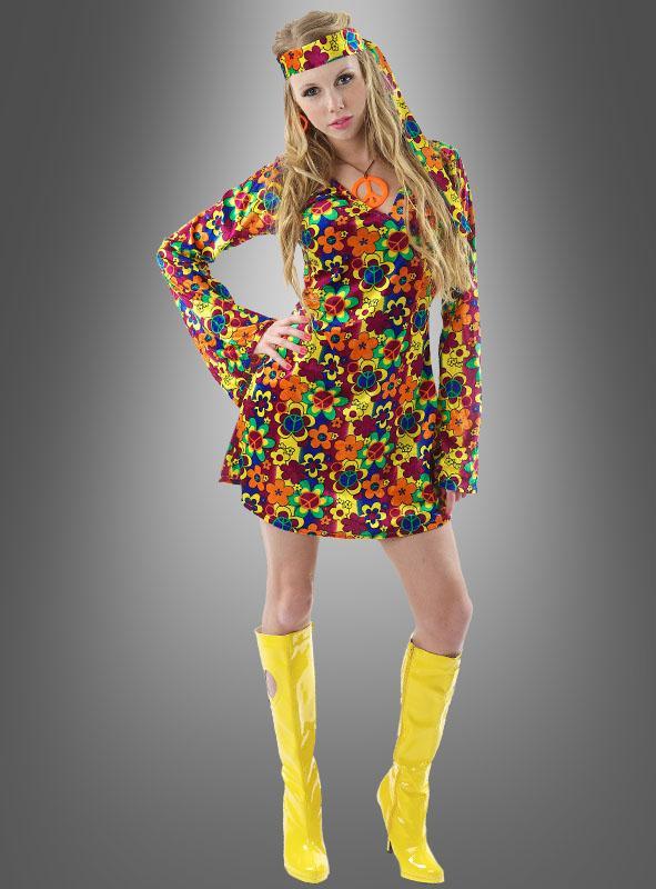 Flora Hippie Kleid Damenkostüm