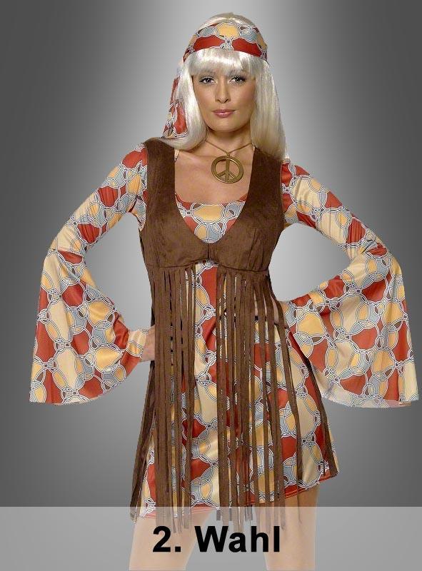 Hippy Dress with Fringe Waistcoat 60s Costume