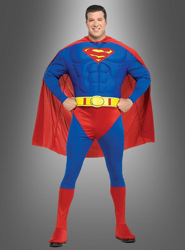 superman kost m xxl kost me f r herren in bergr e. Black Bedroom Furniture Sets. Home Design Ideas