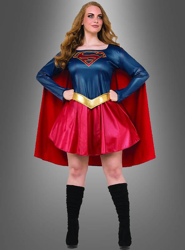 supergirl kost m xxl f r damen dc comics. Black Bedroom Furniture Sets. Home Design Ideas