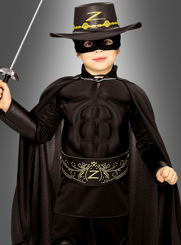 Child Muscle Chest Zorro Costume